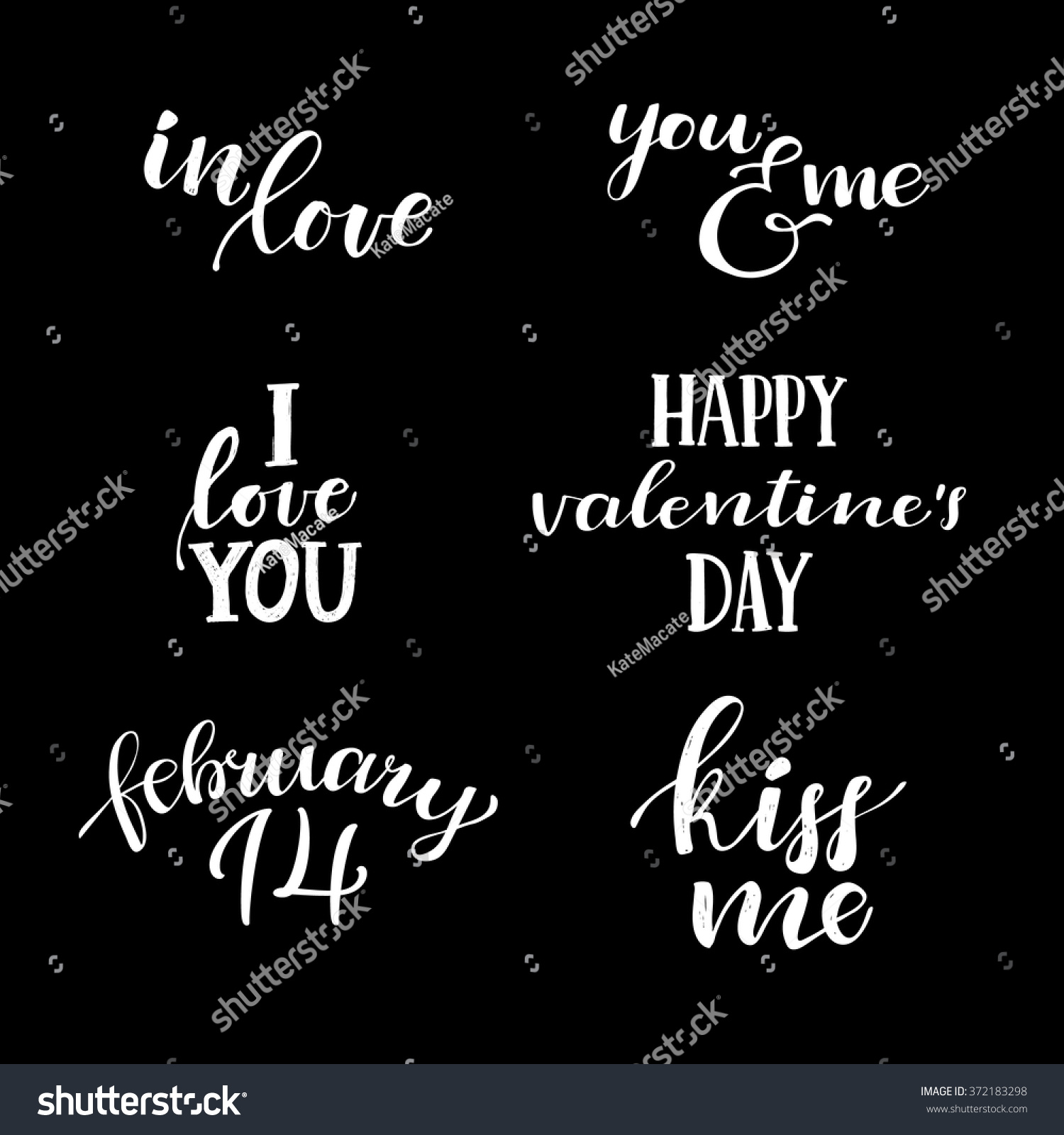 Love you hand lettering vintage quotes stock vector