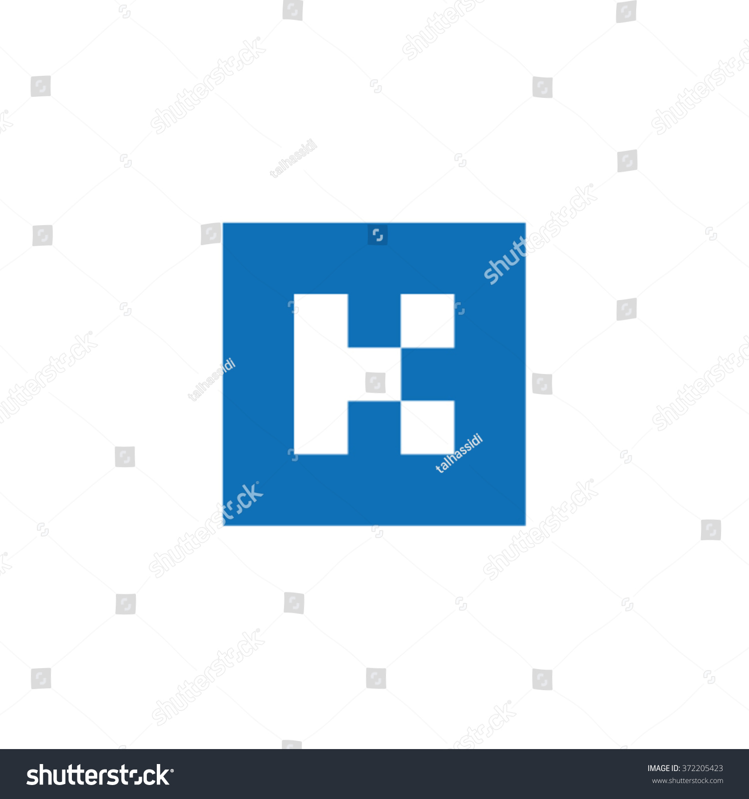 K Square Type Letter Logo Icon Stock Vector Royalty Free 372205423
