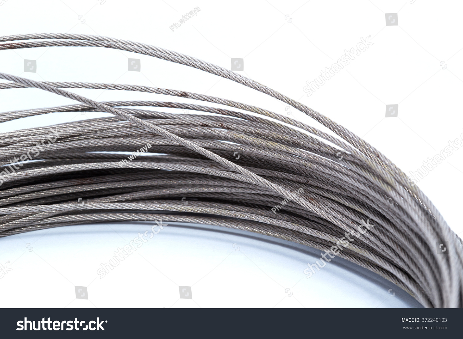 Steel Wire Rope Cable Closeup Stock Photo 372240103 - Shutterstock
