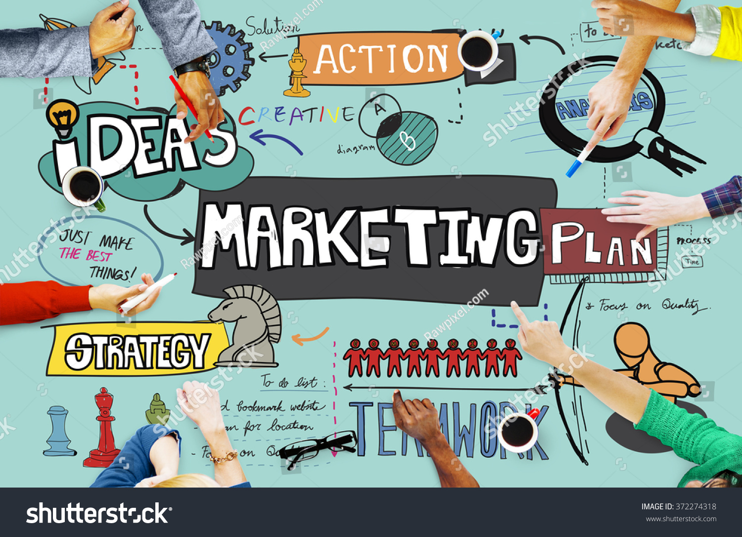 Marketing Commercial Advertising Plan Concept Stock Photo ...