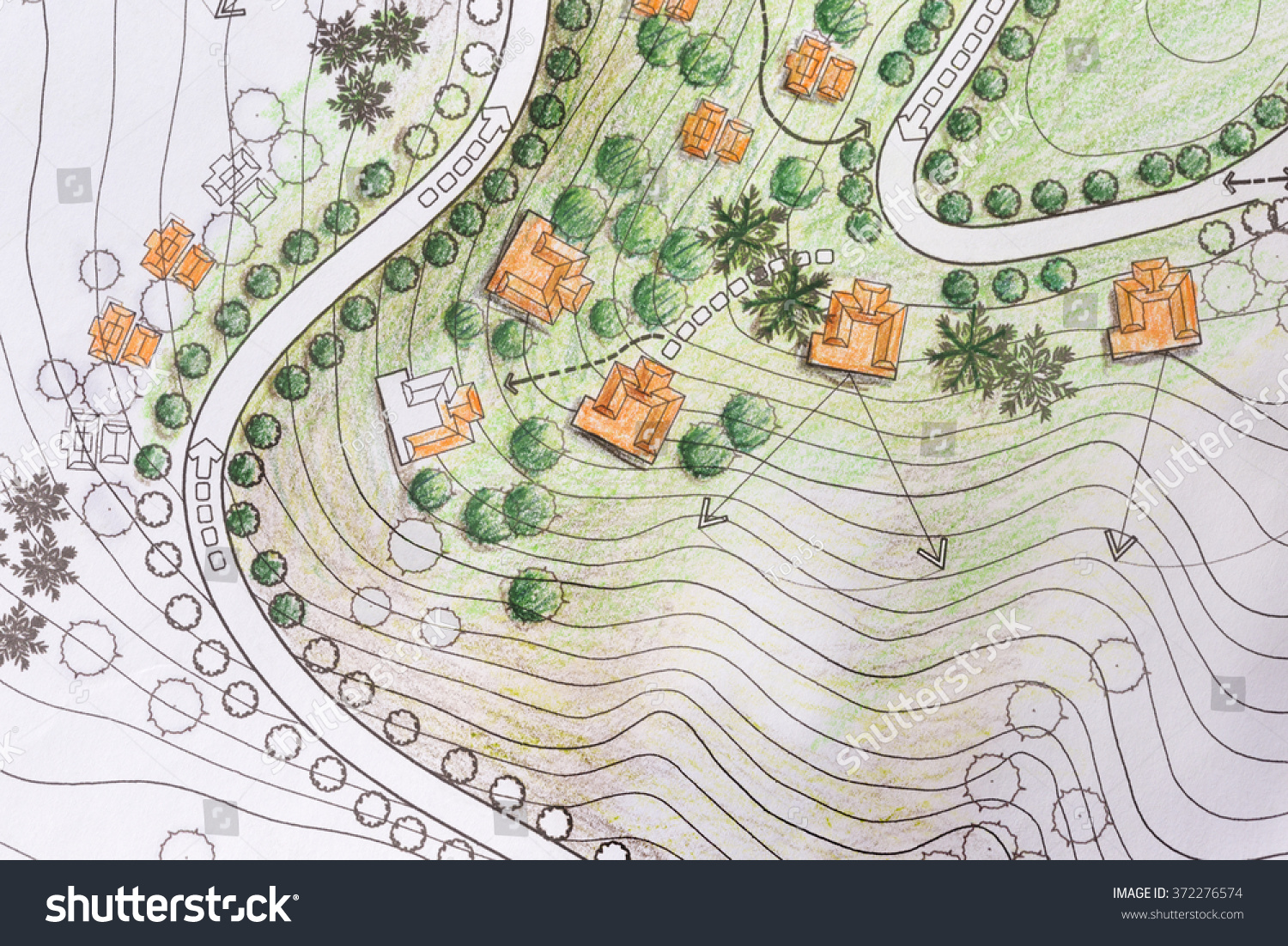 Landscape Architect Designing On Site Analysis Illustration – Site Analysis Plan