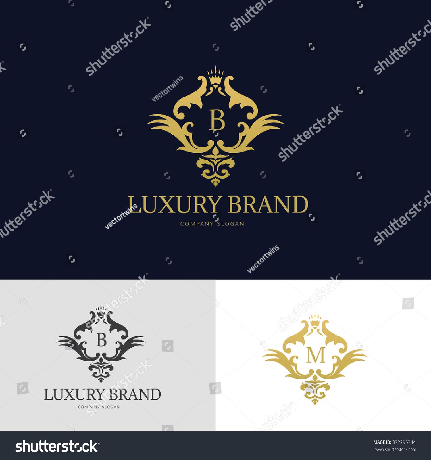 Royaltyfree Luxury Brand Logo designcrest logo 372295744 Stock
