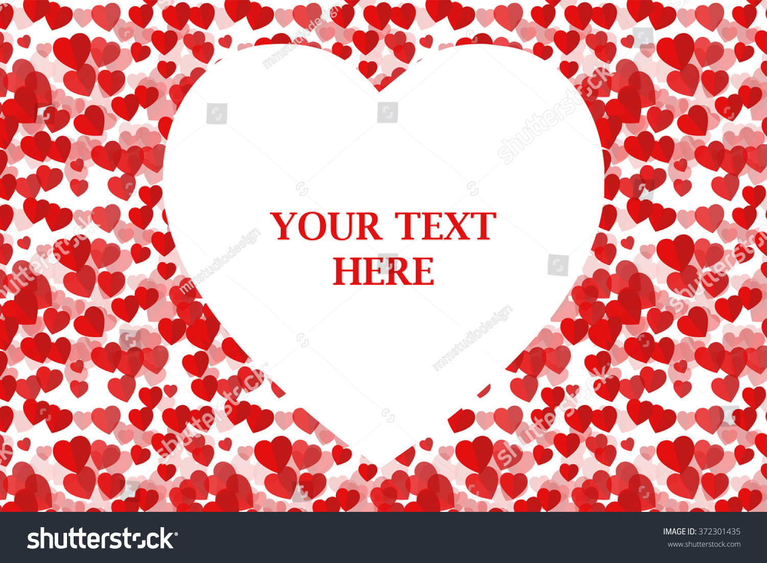 Love Greeting Card Happy Valentines Day Stock Vector Royalty Free