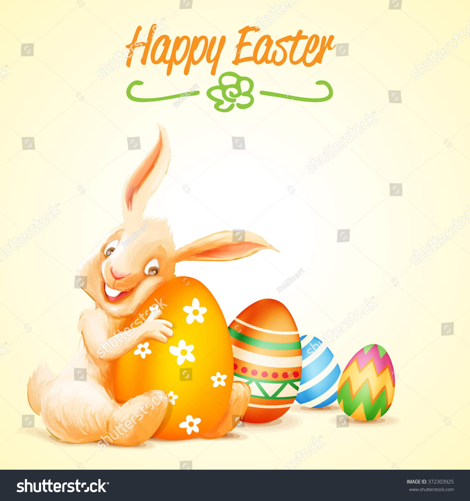 Happy Easter Stock Vector Illustration 372303925 ...