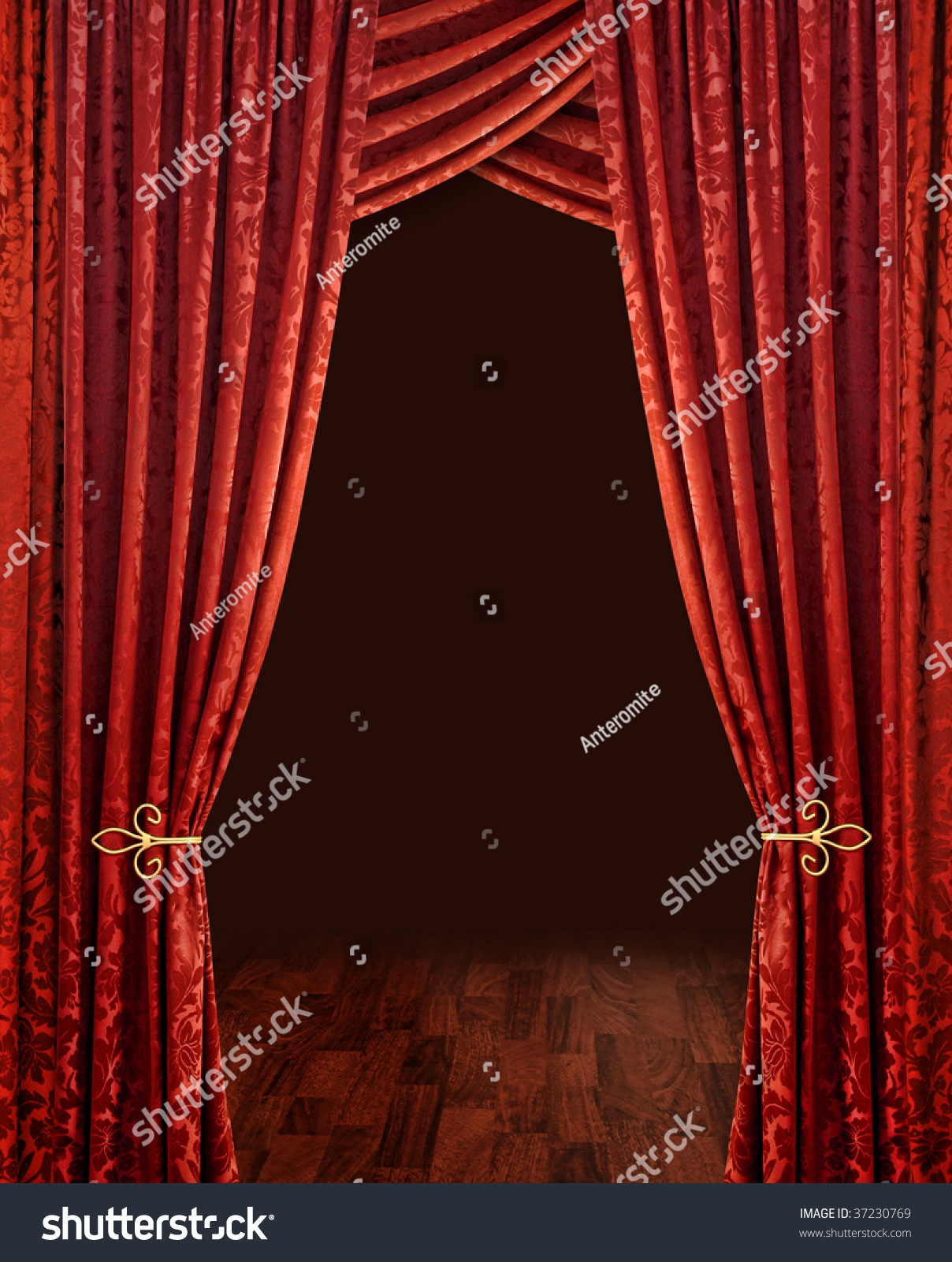 Red stage curtains - Save To A Lightbox