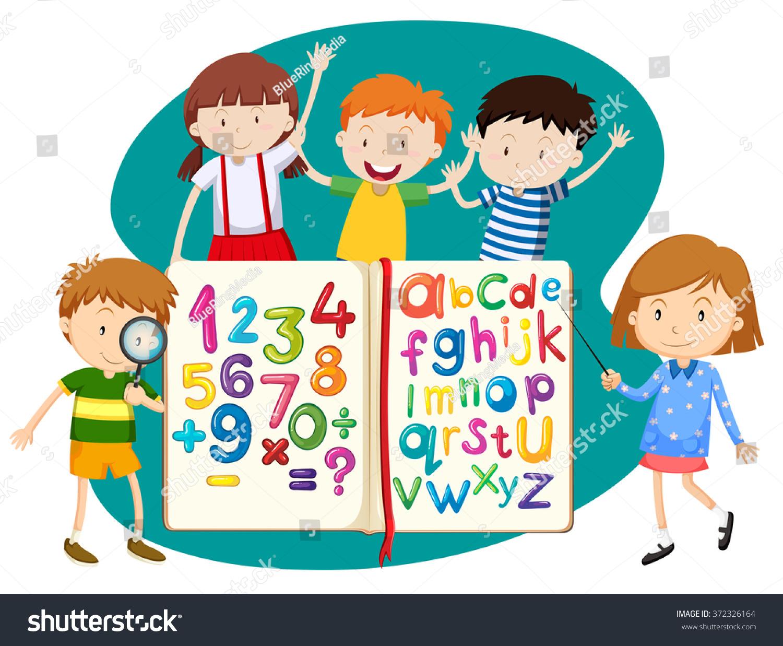 Children Book Math English Illustration Stock Vector HD (Royalty ...