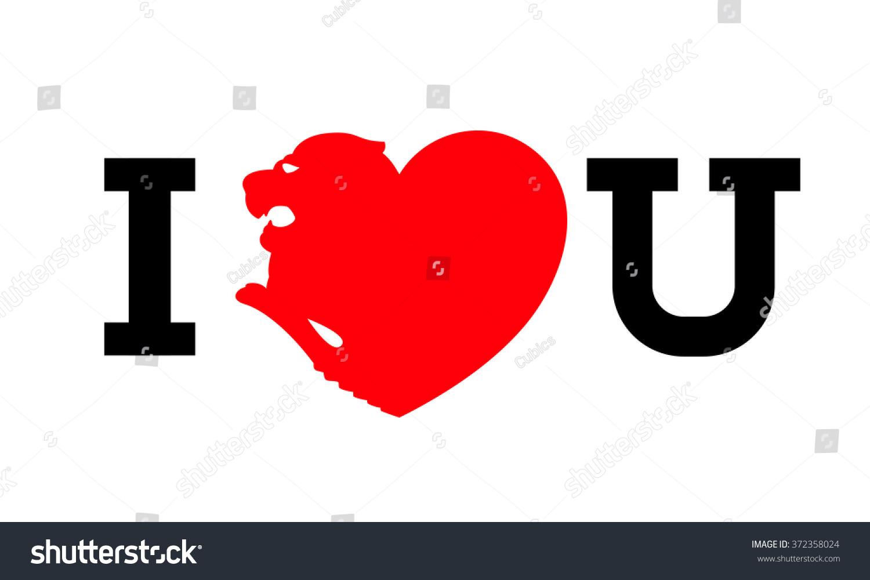 Illustrator Heart Shaped Lion Wording Love Stock Vector HD (Royalty ... for Vector Heart Shape Illustrator  110zmd