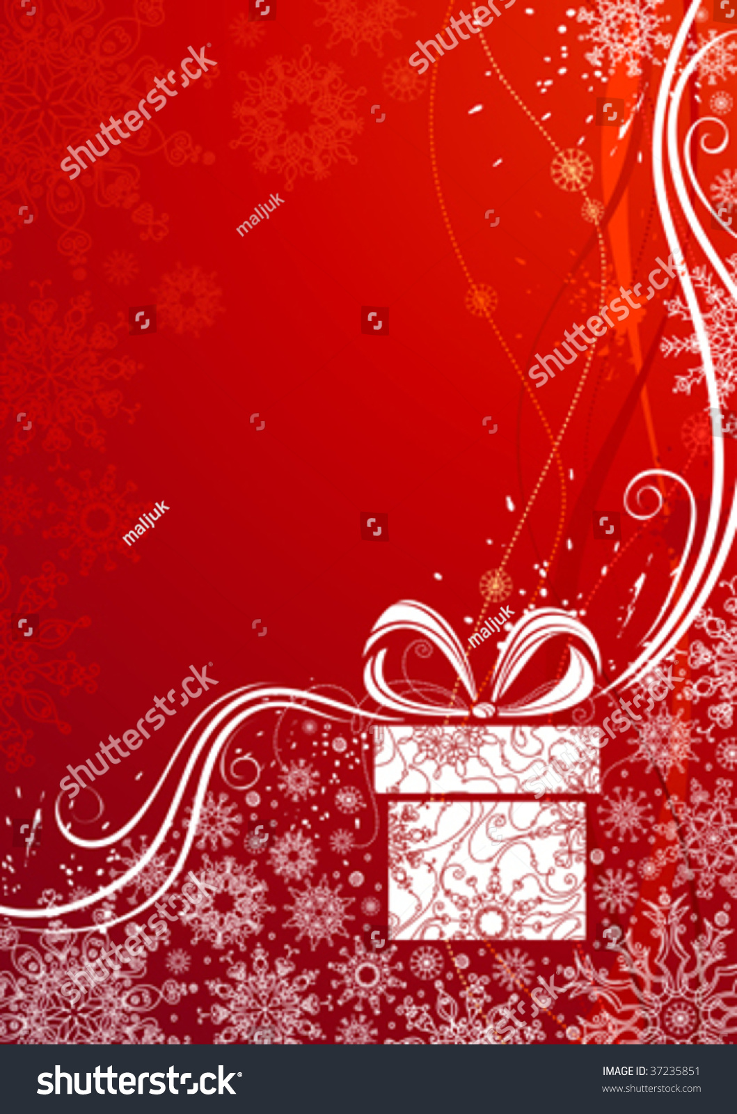 Grunge red christmas background vector illustration stock