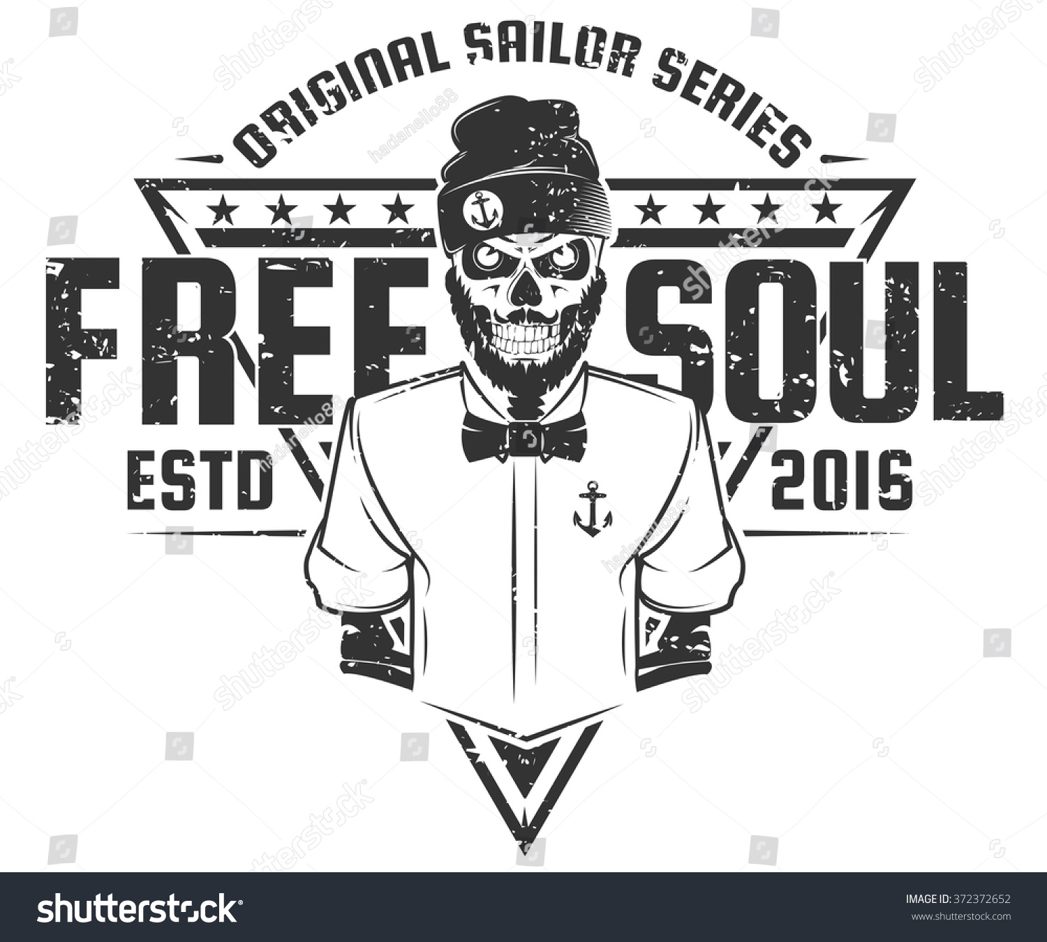 Design t shirt free - Free Soul Sailor Style Design Of Print For T Shirts