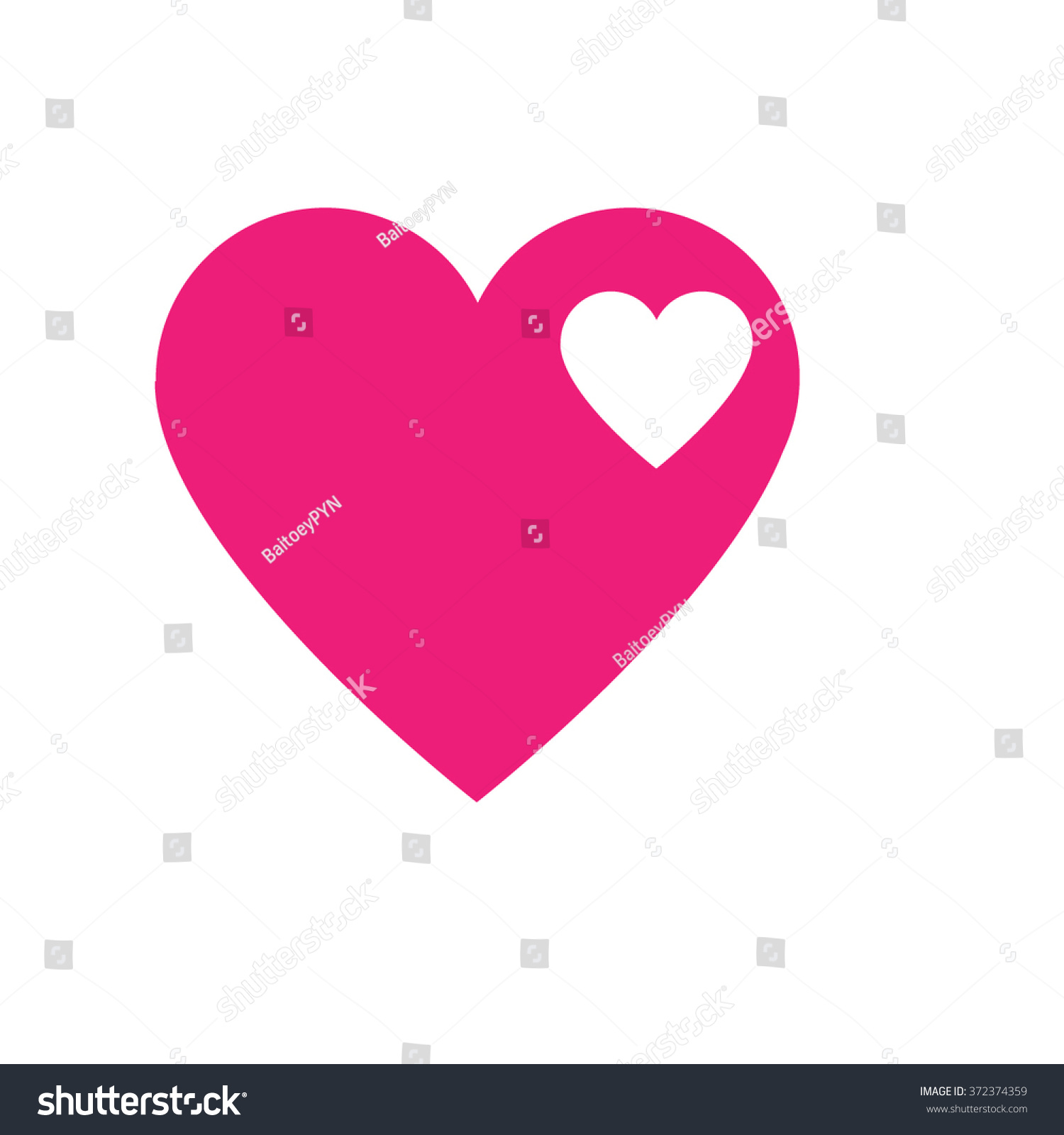 White Small Heart Pink Hearts Symbol Stock Vector Royalty Free