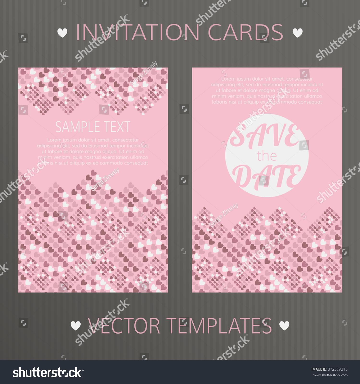 Vector Templates Save Date Birthday Wedding Stock Vector