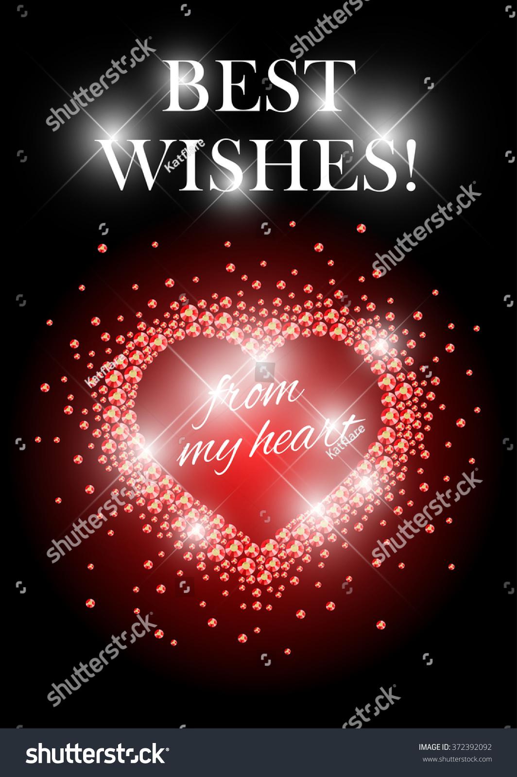 Valentines Day Card Design Love Postcard Stock Illustration ...