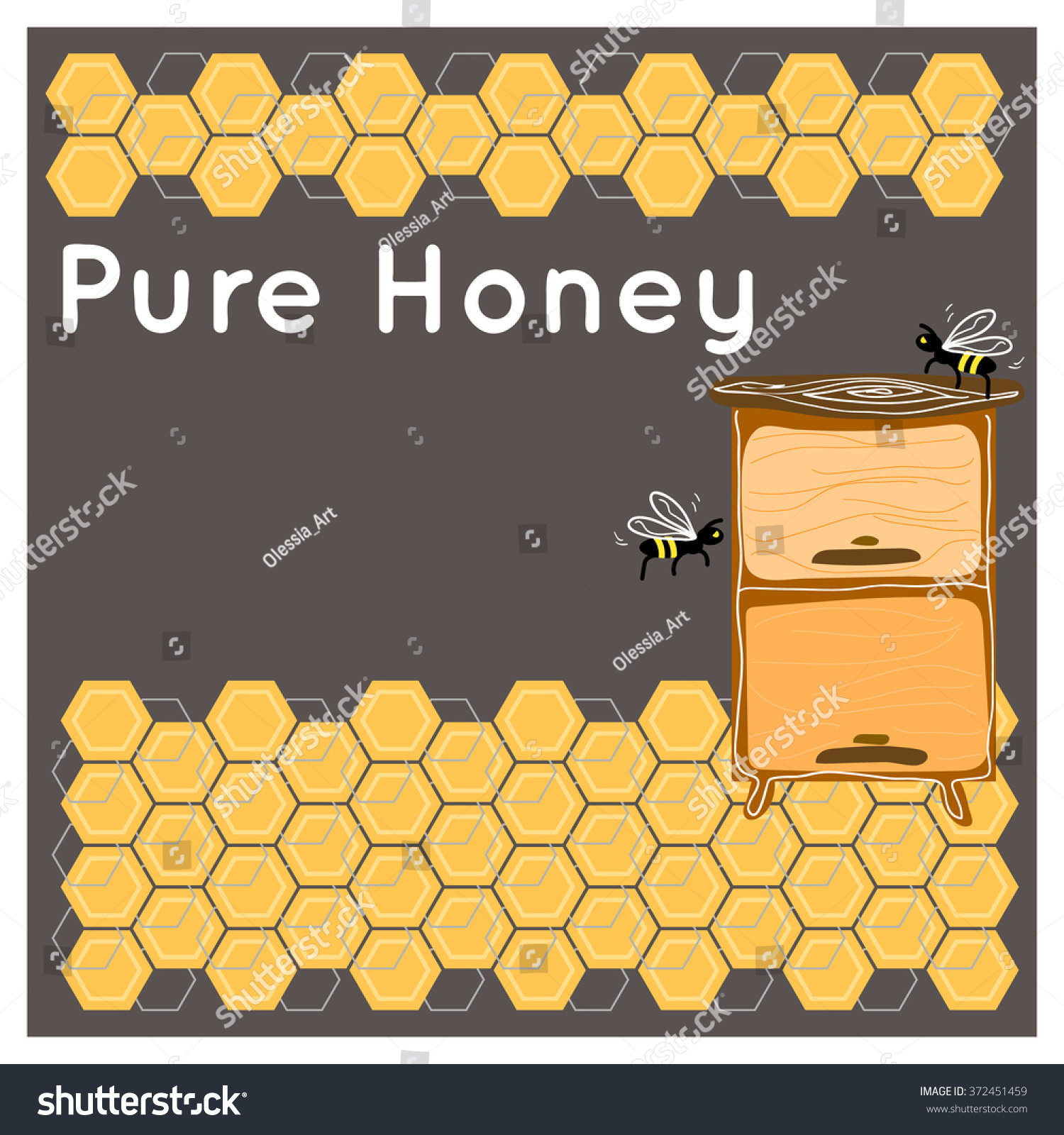 honey background design concept beehive apiary stock vector