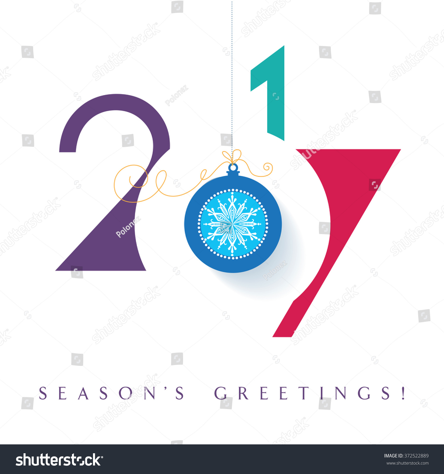 Seasons greetings happy new 2017 year stock vector 372522889 seasons greetings happy new 2017 year colorful contemporary design illustration pooptronica Images