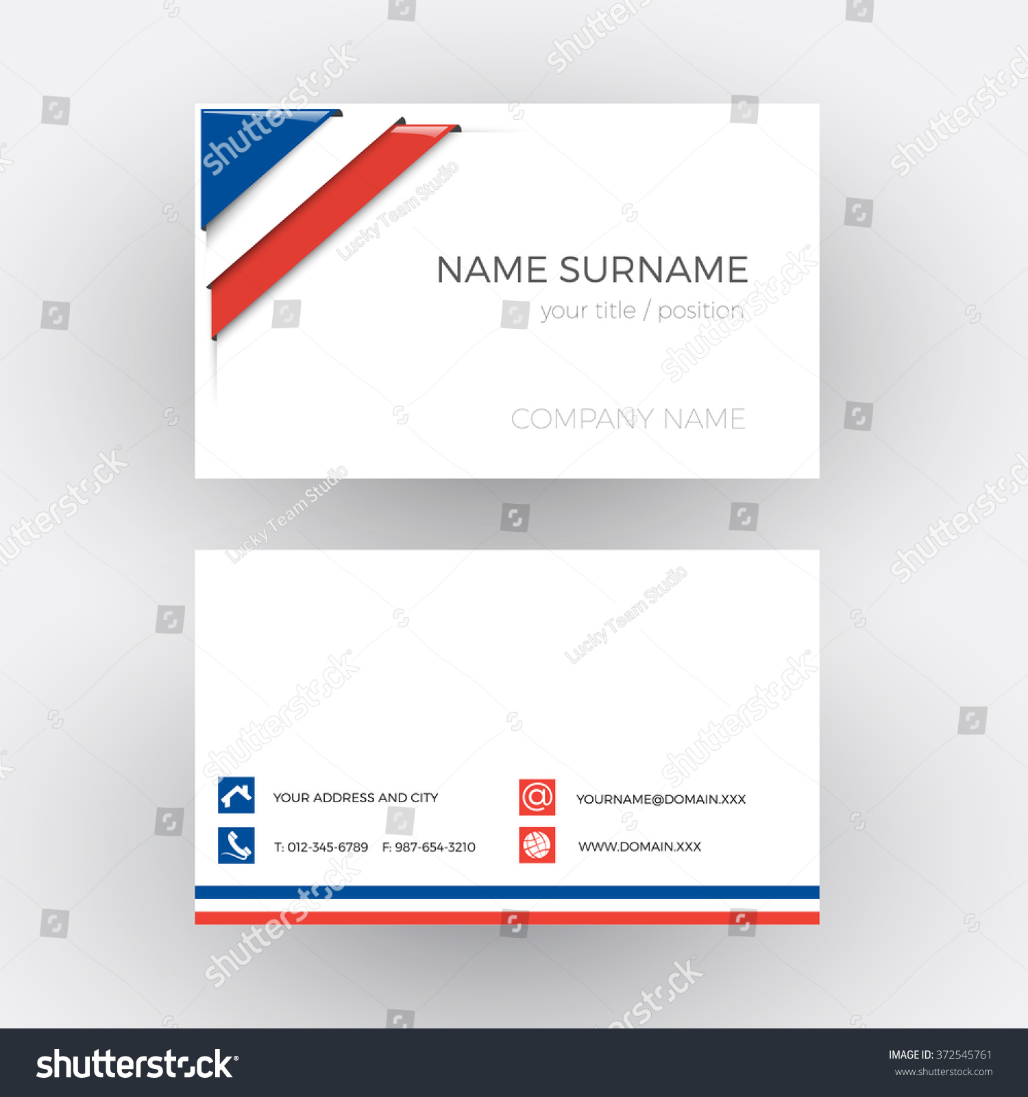 Vector Abstract Corner French Flag Business Stock Vector 372545761 ...