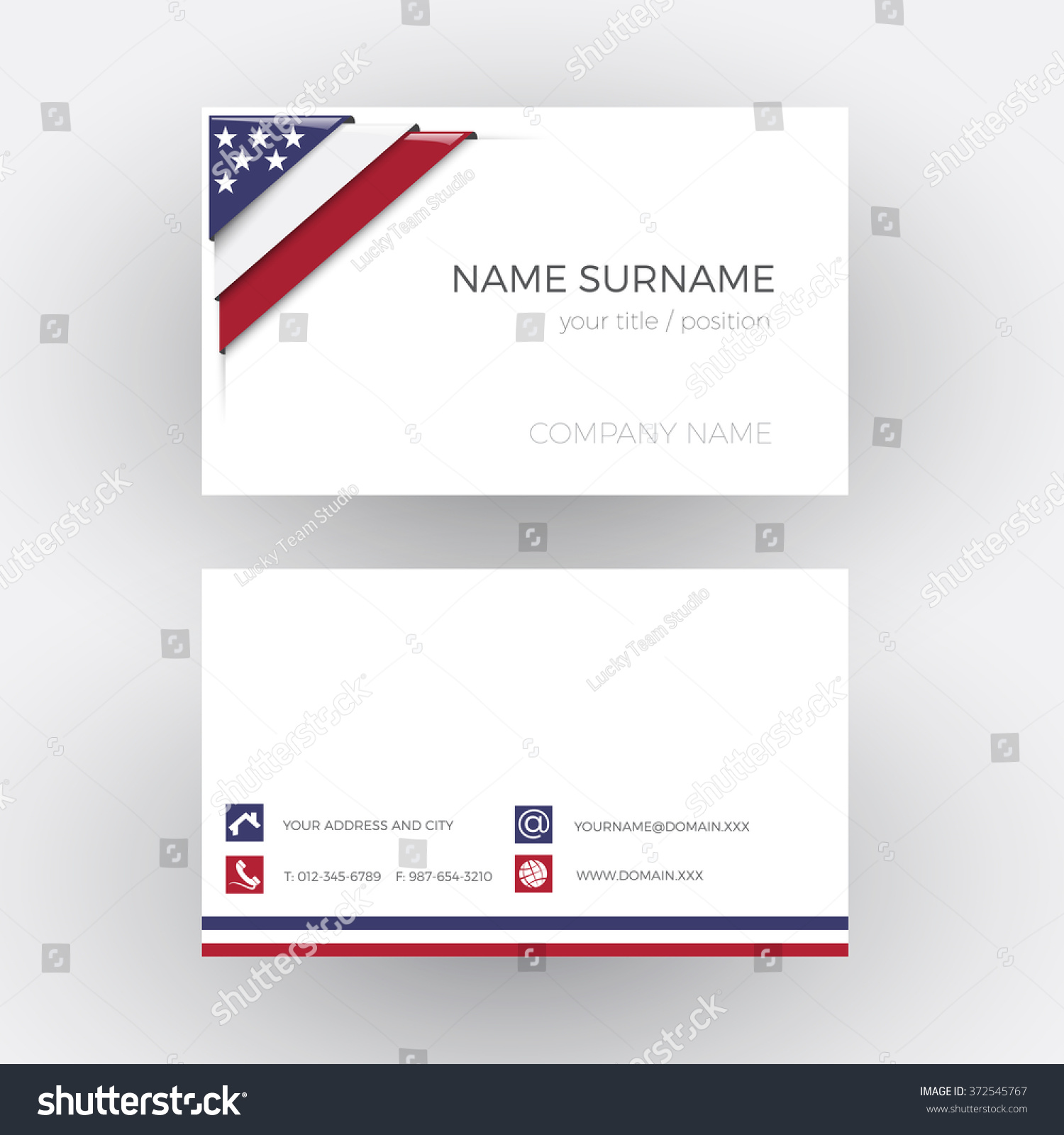 Vector Abstract Corner American Flag Business Stock Vector HD ...
