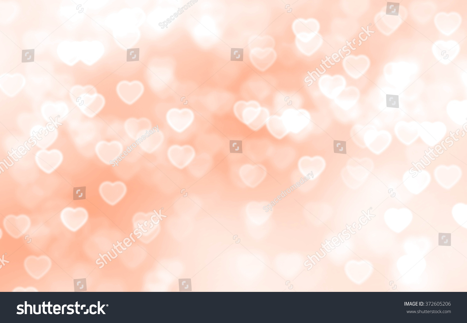 Bokeh Heart Shape Of Light Background Stock Footage Video: Bright Peach Color Heartshaped Bokeh Background Stock