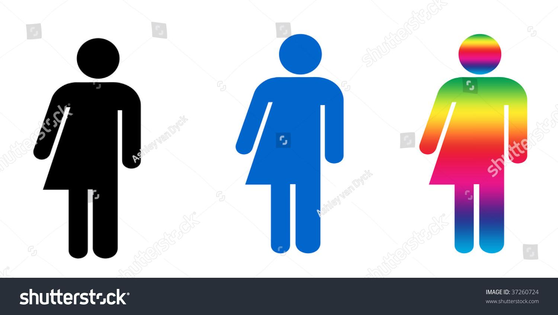Set Three Symbols Illustrating Gender Variance Stock Illustration
