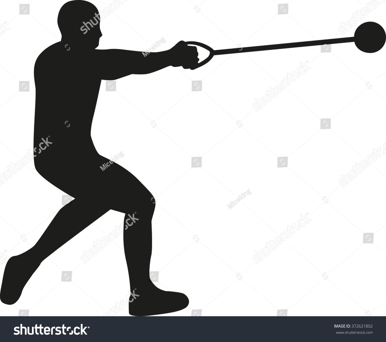 Hammer throw clip art