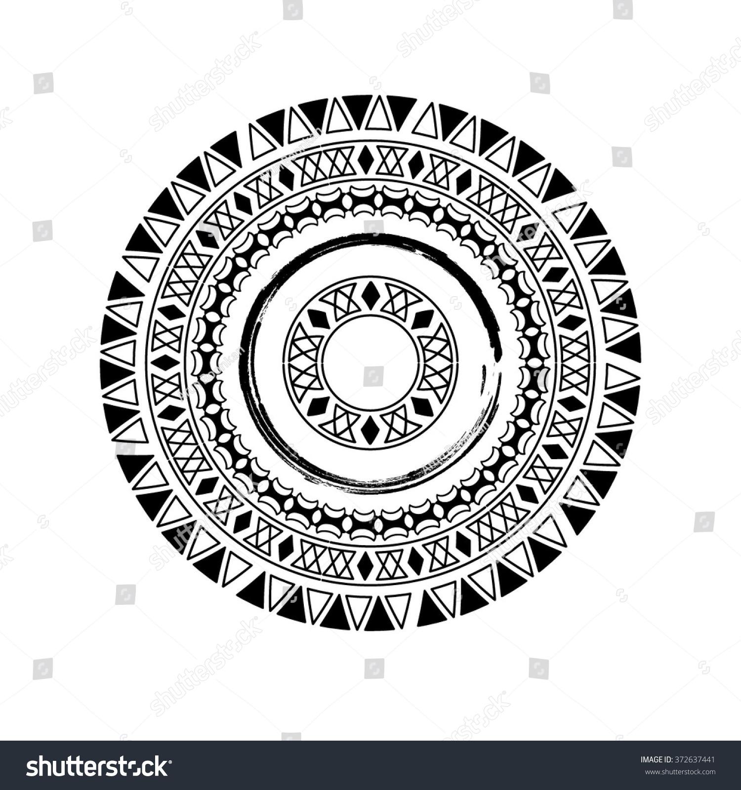 Royalty-free Circle polynesian tattoo styled frames.… #372637441 ...