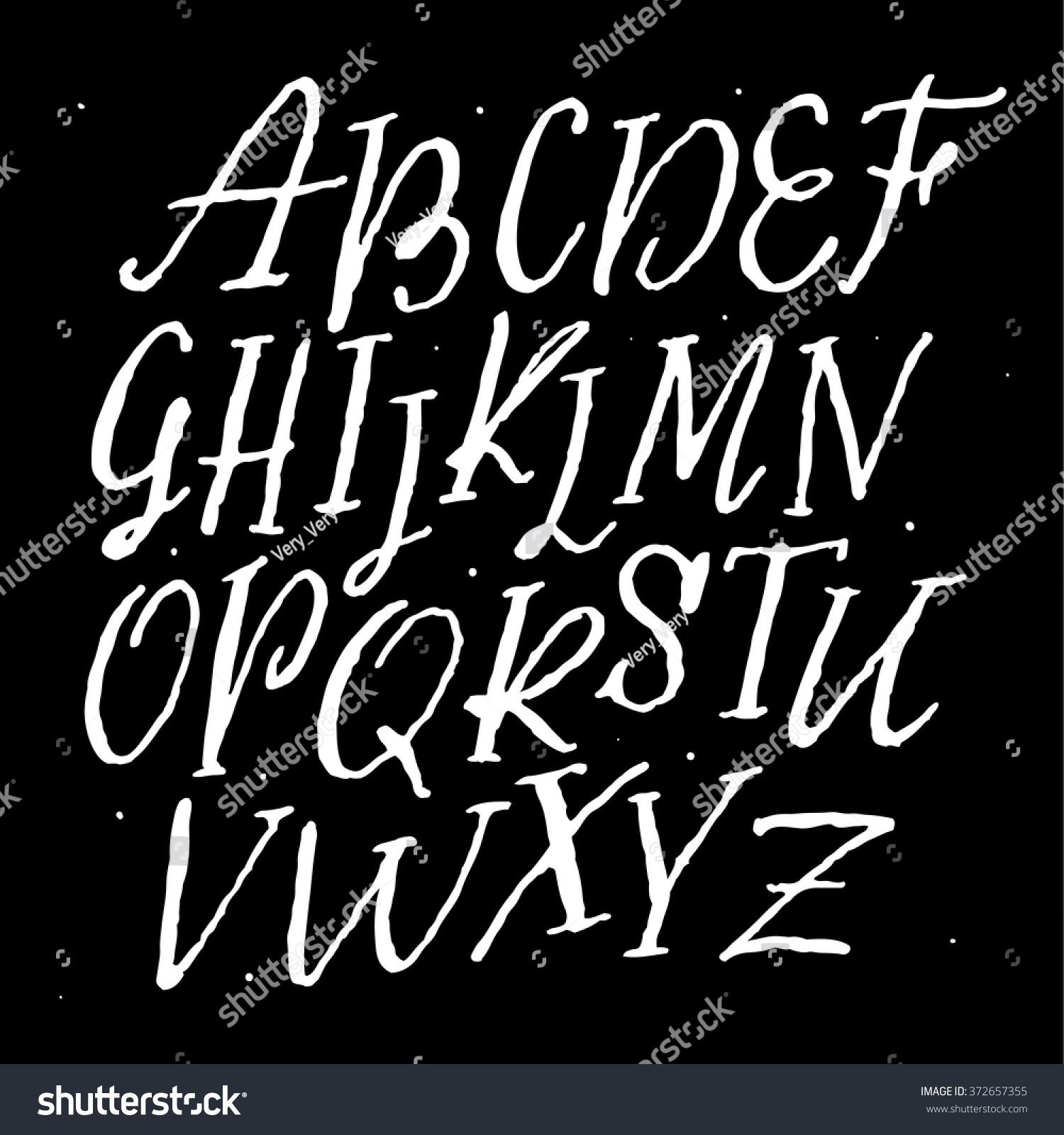 vector alphabet hand drawn letters written vector sign painter script lettering font