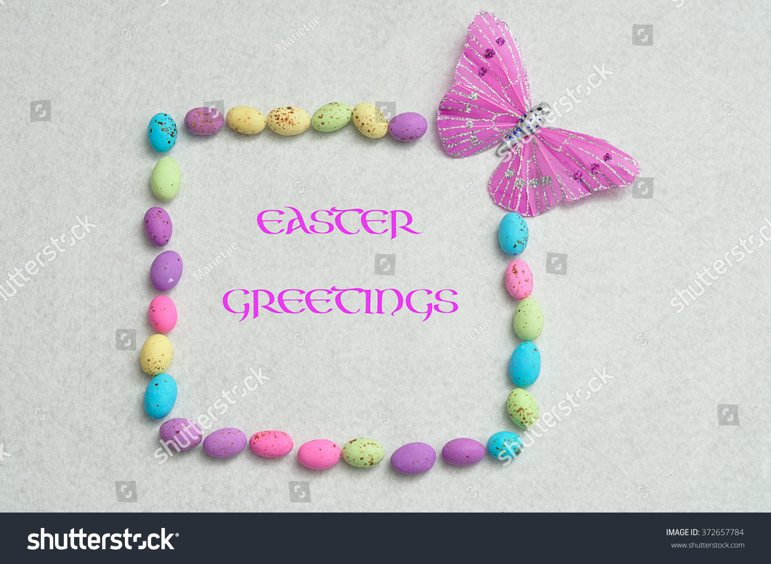 Royalty Free An Easter Egg Border With Small 372657784 Stock Photo