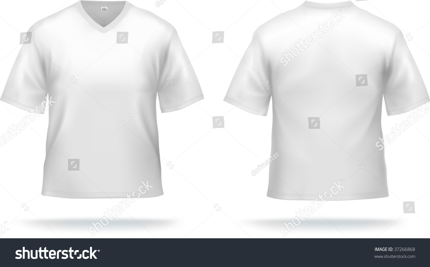 Design t shirt collar - White T Shirt With Triangle Collar Can Be Used As Design Template Contains