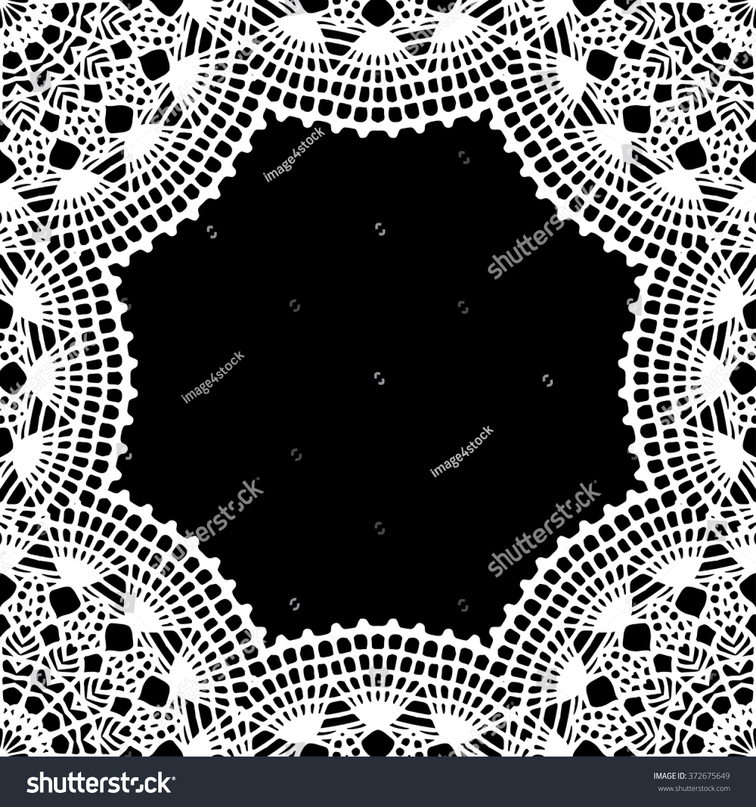 Lace Doily Frame Hand Made Cutout Stock Vector Hd Royalty Free