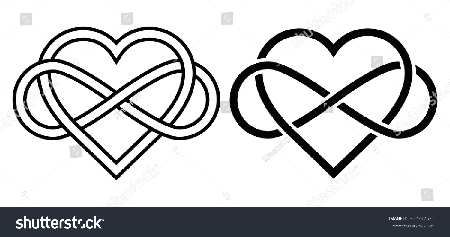 Intertwined heart sign infinity love forever stock vector 372742537 intertwined heart with the sign of infinity love forever buycottarizona Gallery