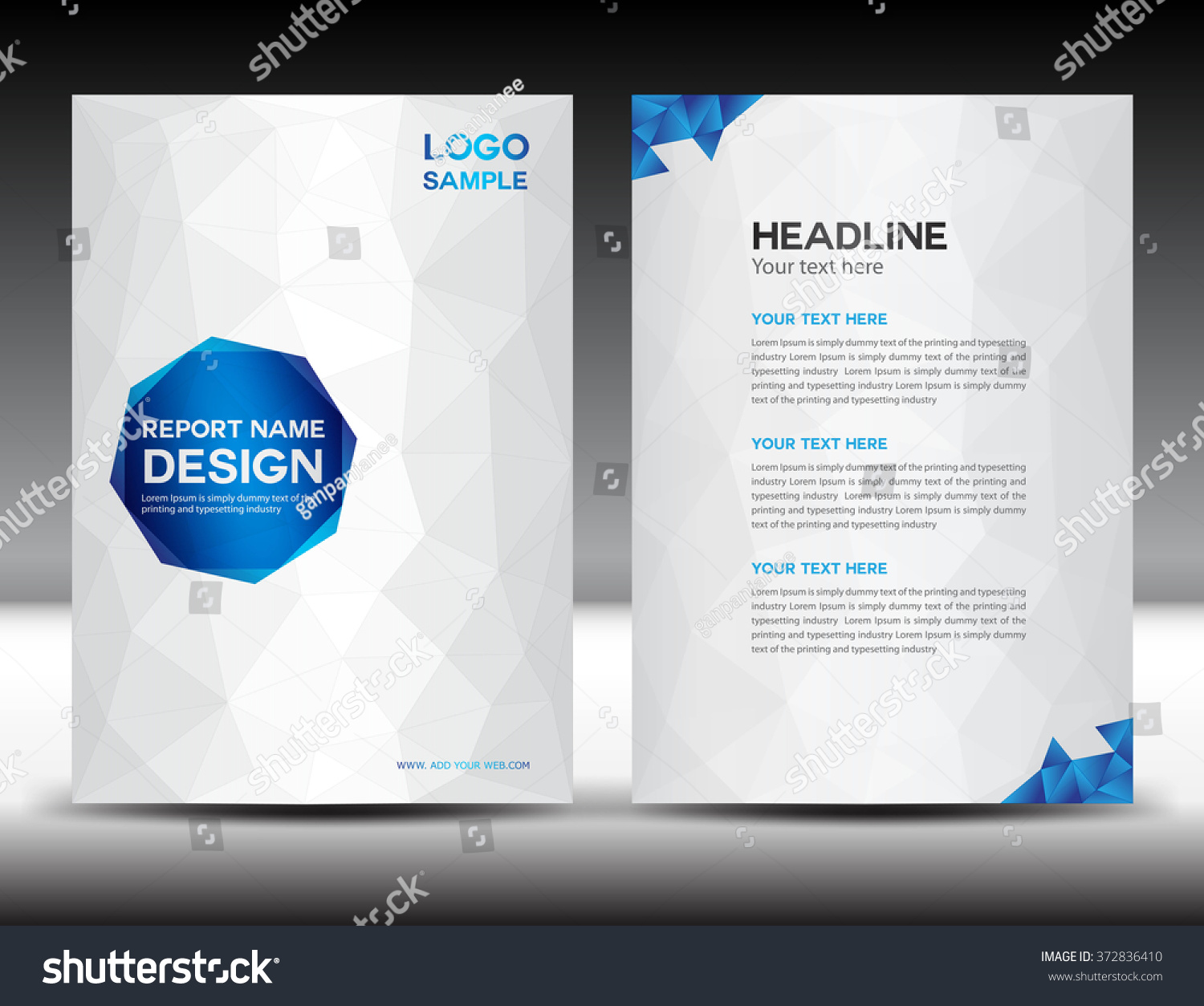 brochure leaflet design stock vector illustration of colorful