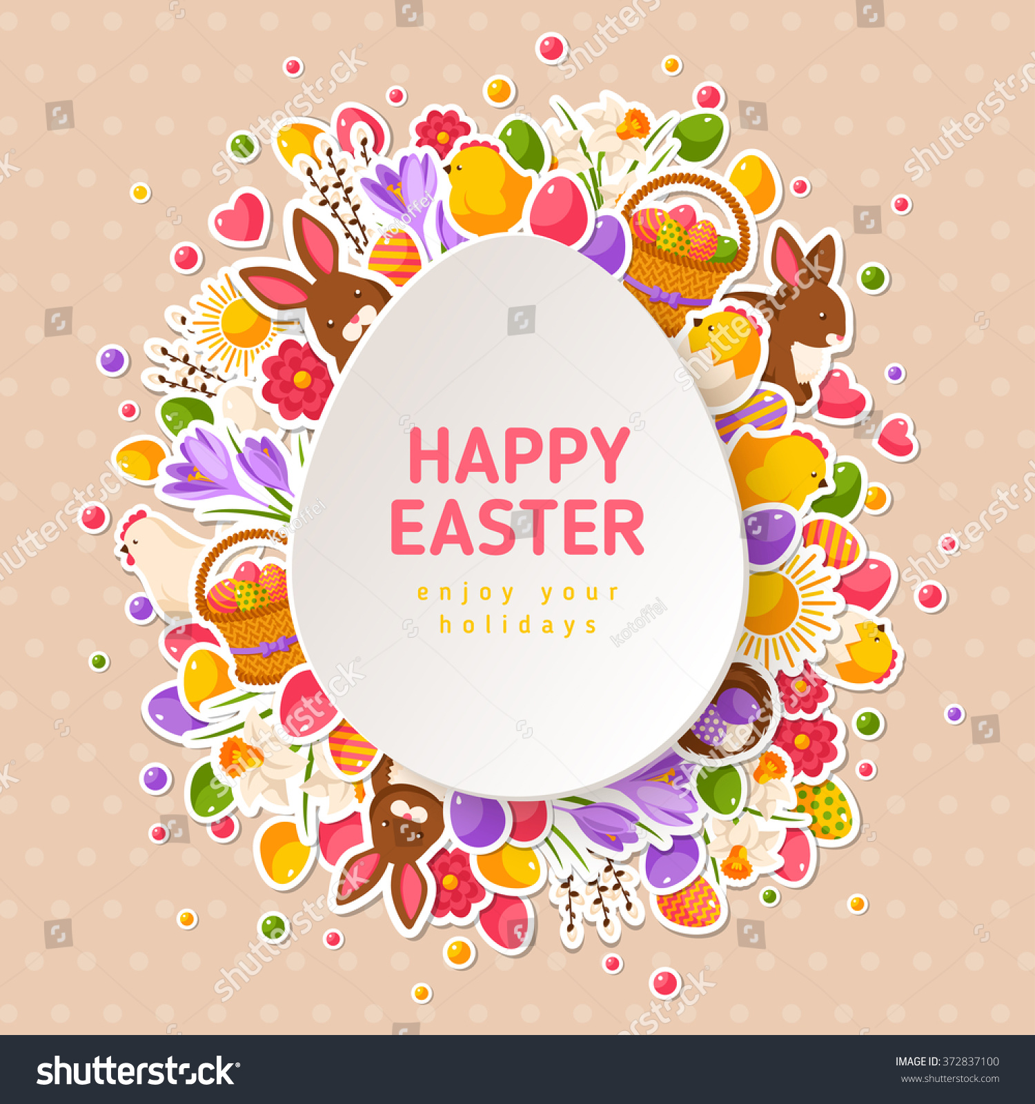 Happy Easter Greeting Cards Paper Cut Vector 372837100 – Easter Greeting Cards