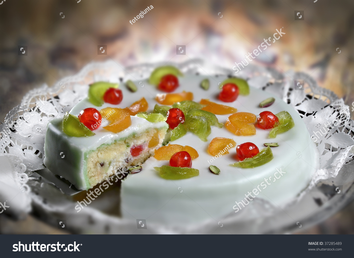 Traditional Sicilian Cassata Cake Stock Photo 37285489