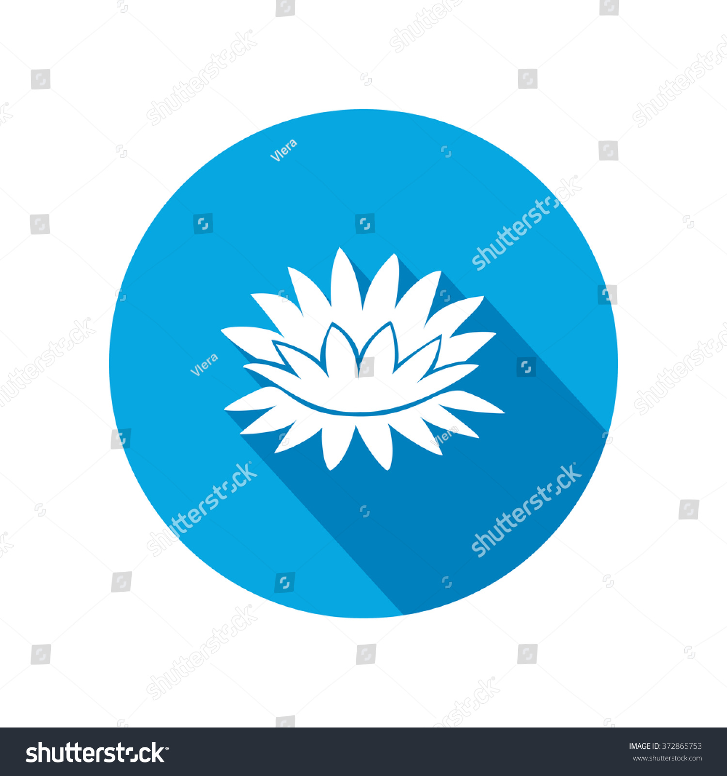 Lily flower icons waterlilies floral symbol stock illustration lily flower icons water lilies floral symbol round circle flat icon with long izmirmasajfo Choice Image