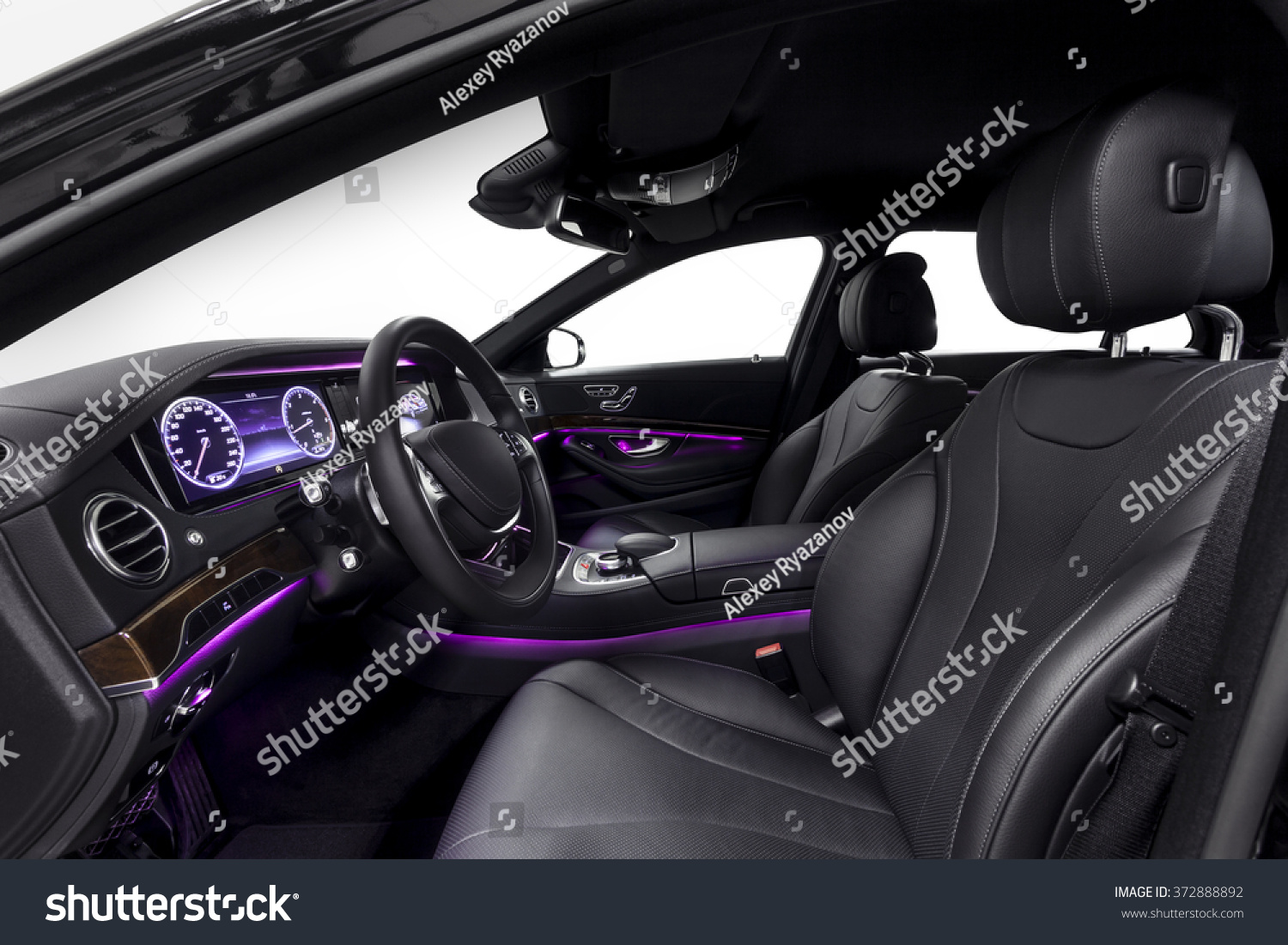 royalty free car inside driver seat interior of 372888892 stock photo. Black Bedroom Furniture Sets. Home Design Ideas
