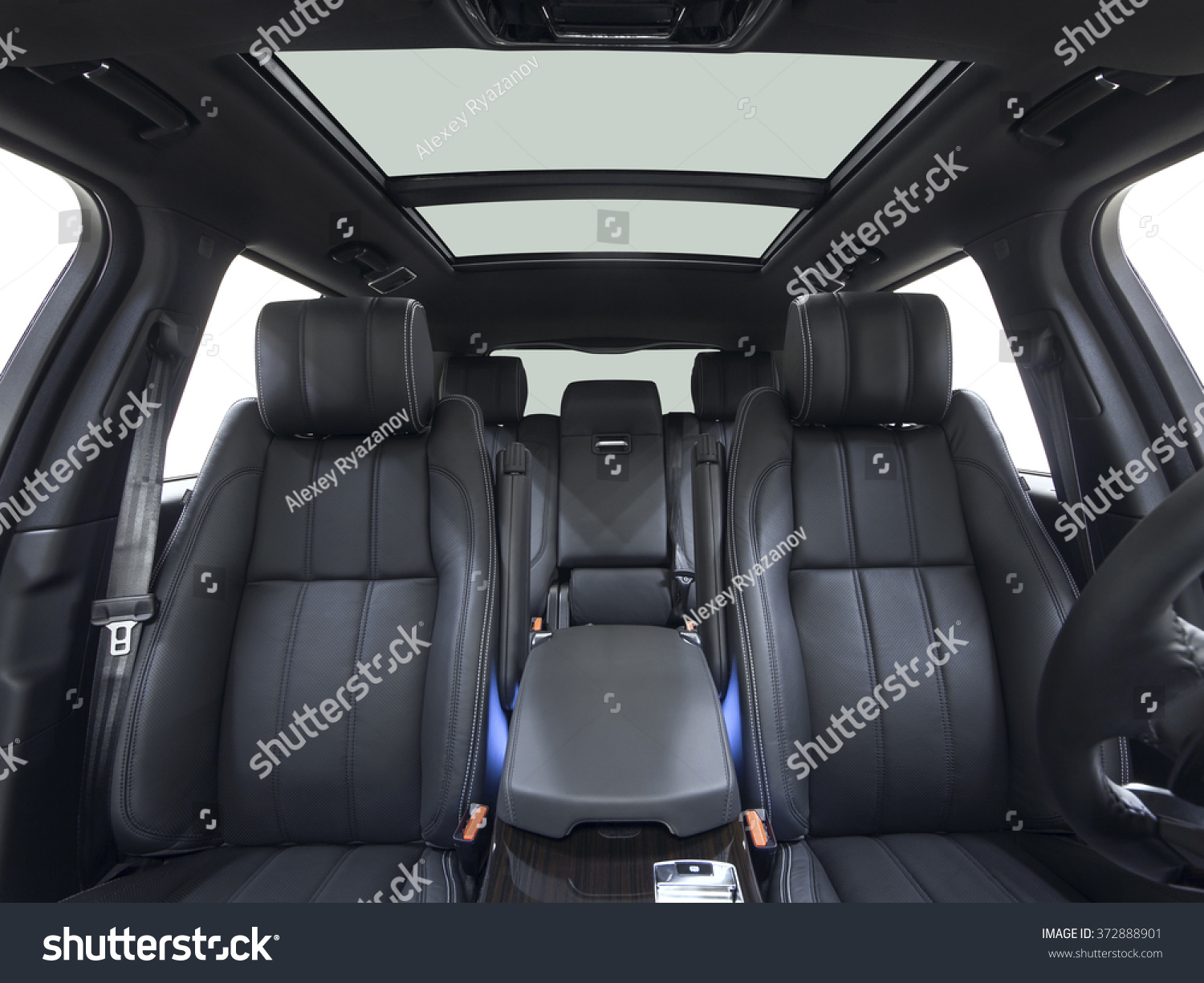 car inside interior prestige modern car stock photo 372888901 shutterstock. Black Bedroom Furniture Sets. Home Design Ideas