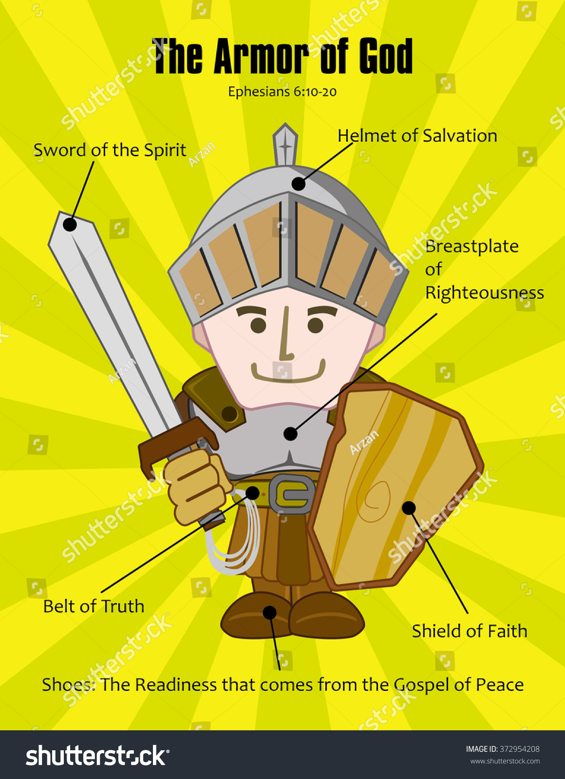 armor god ephesians chapter 6 stock vector 372954208 shutterstock