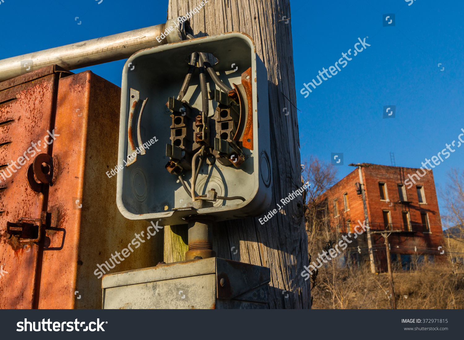 Breaker Box On Telephone Pole Stock Photo (Edit Now) 372971815