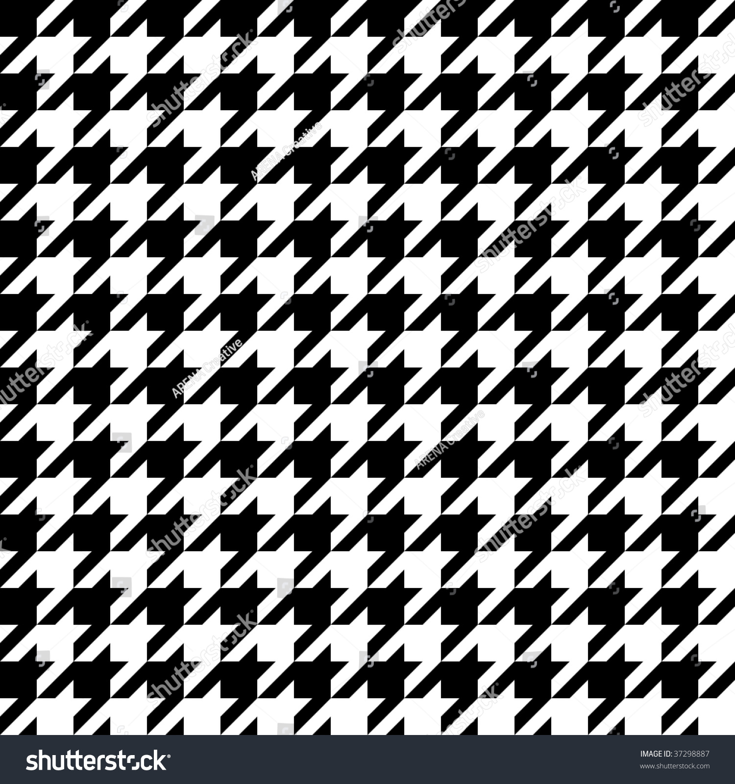Trendy Hounds Tooth Pattern That Tiles Stock Vector