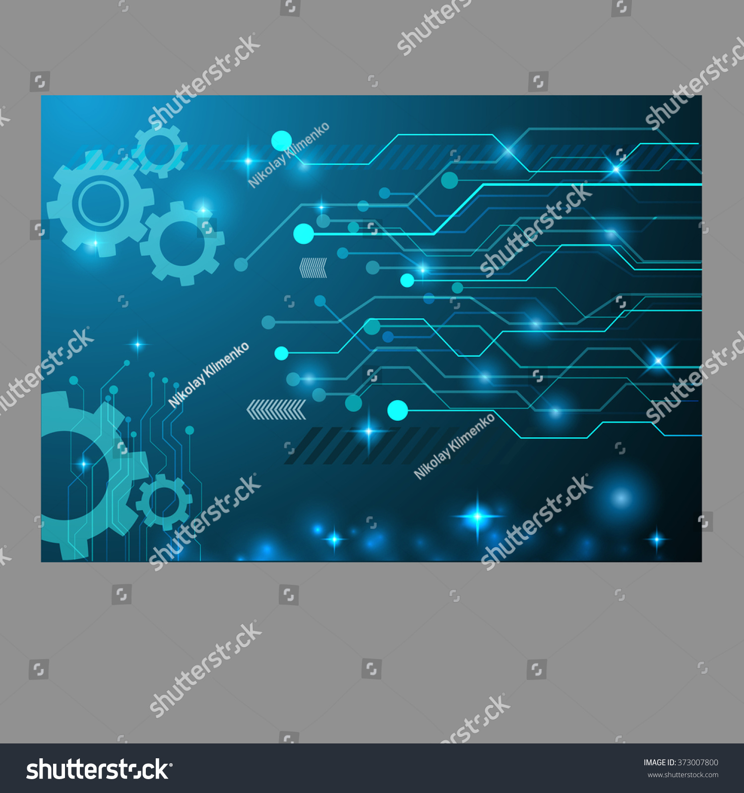 Abstract Technology Gear Circuit Board Vector Stock Royalty Background Design Eps 10