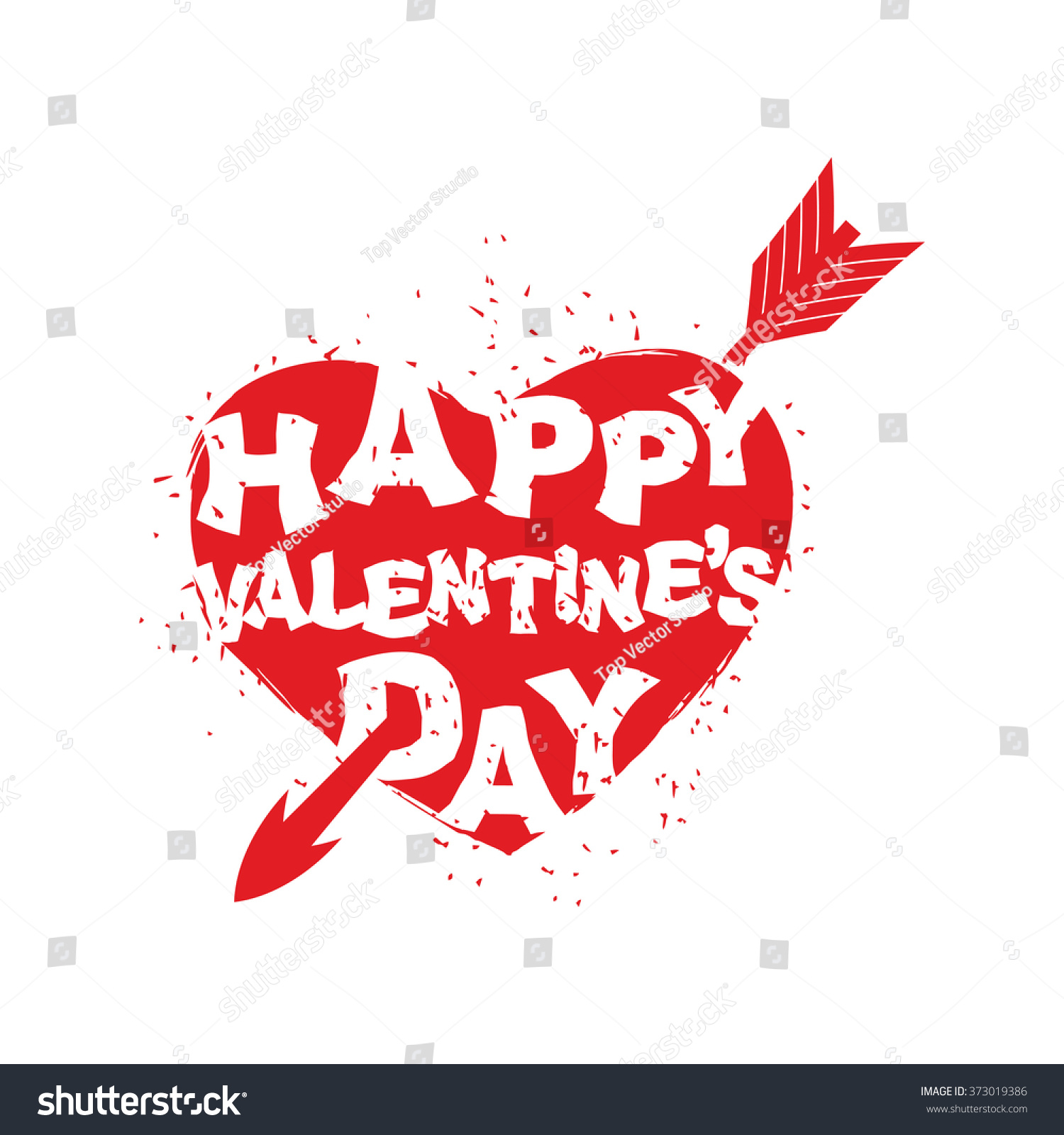 Happy Valentines Day Sign. Logo Of Heart With An Arrow. All Lovers. 14