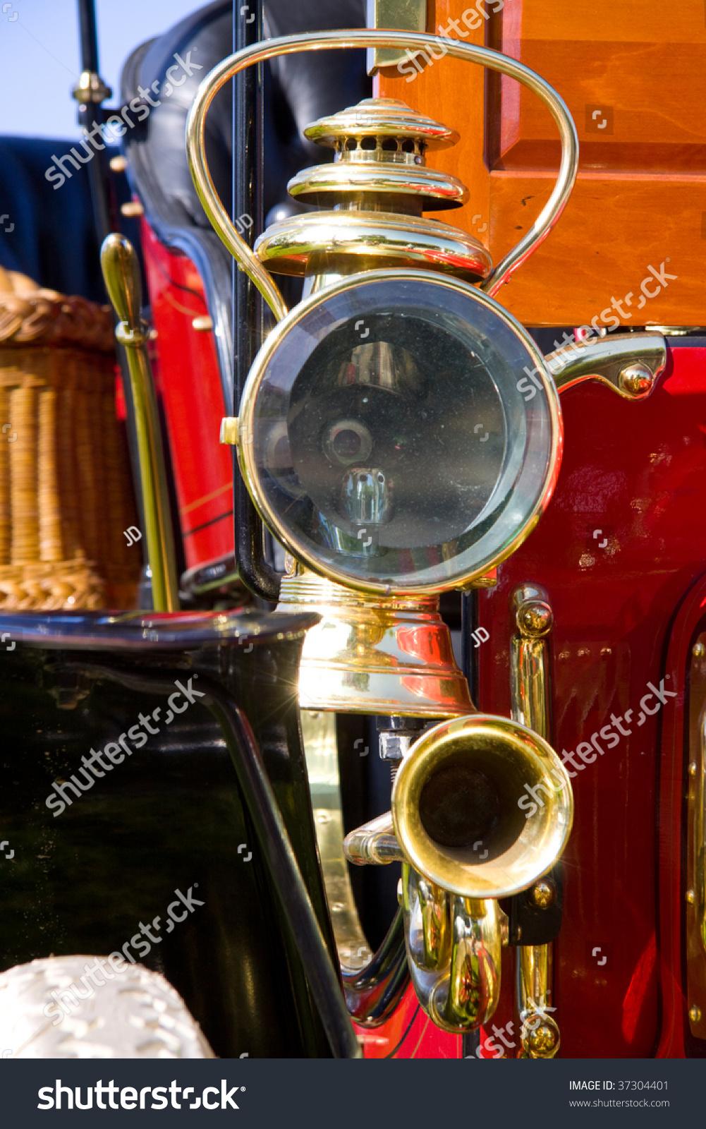 Antique Automobile Headlamps : Antique car headlight stock photo shutterstock