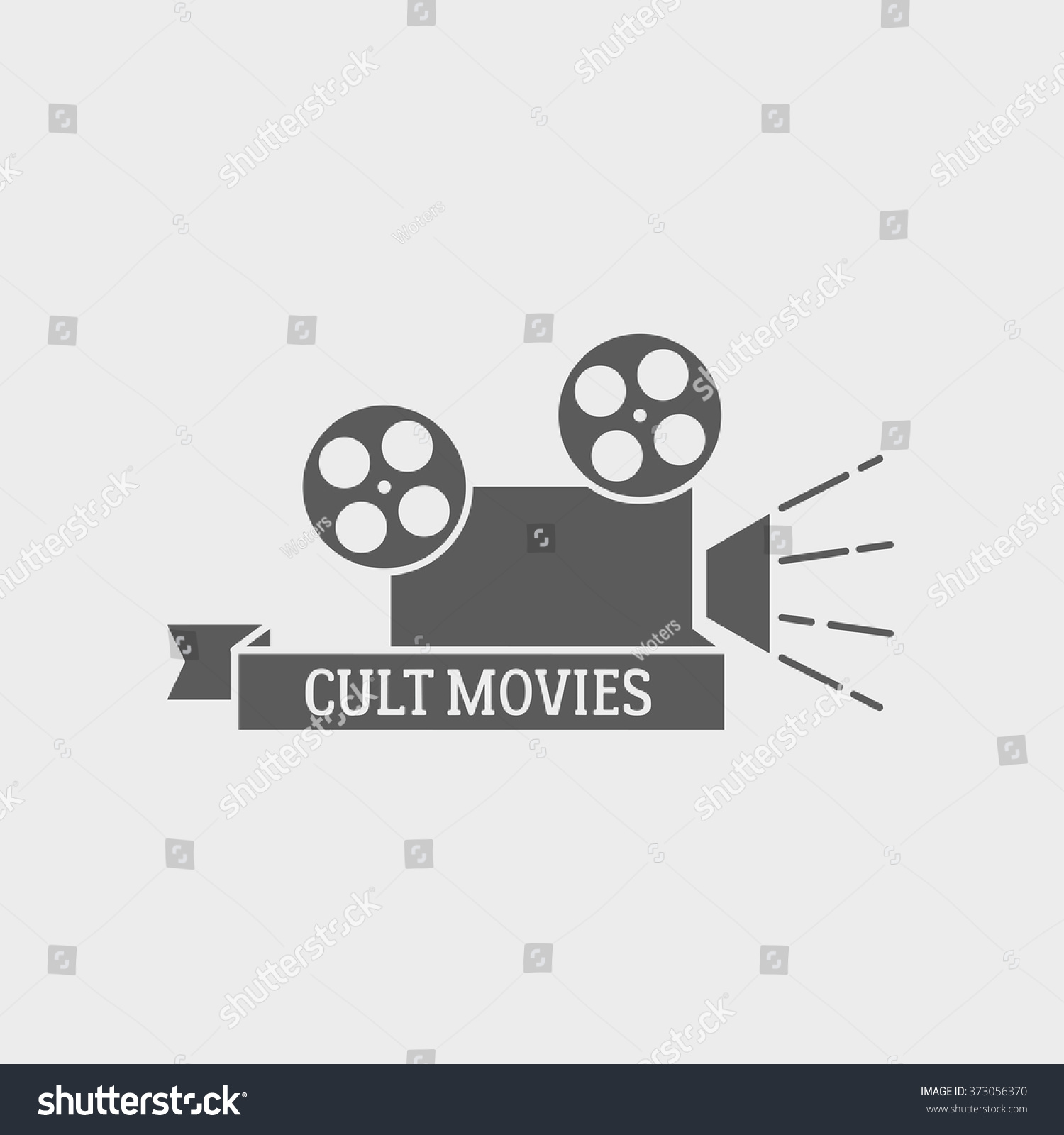 Movie theater vector logo badge label stock vector for Camera film logo