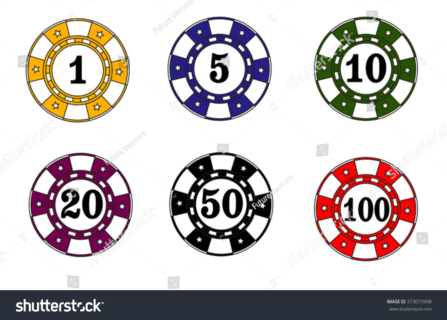 Casino Roulette Chips Stock Vector Royalty Free 373073998