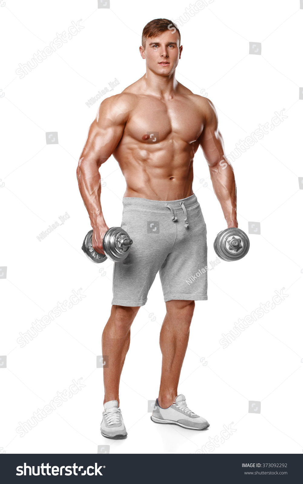 Sexy Athletic Man Showing Muscular Body Stock Photo Edit Now