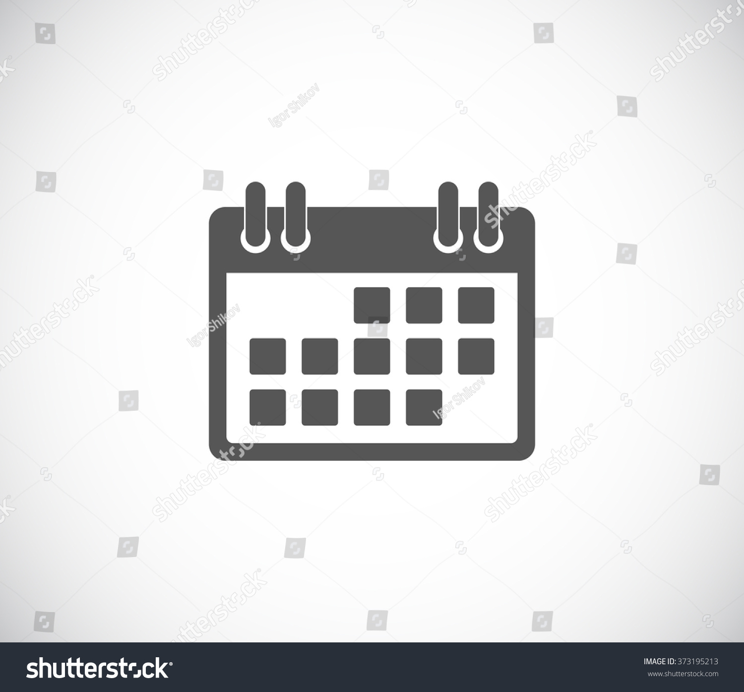 Calendar Web Icon : Calendar web icon stock vector illustration