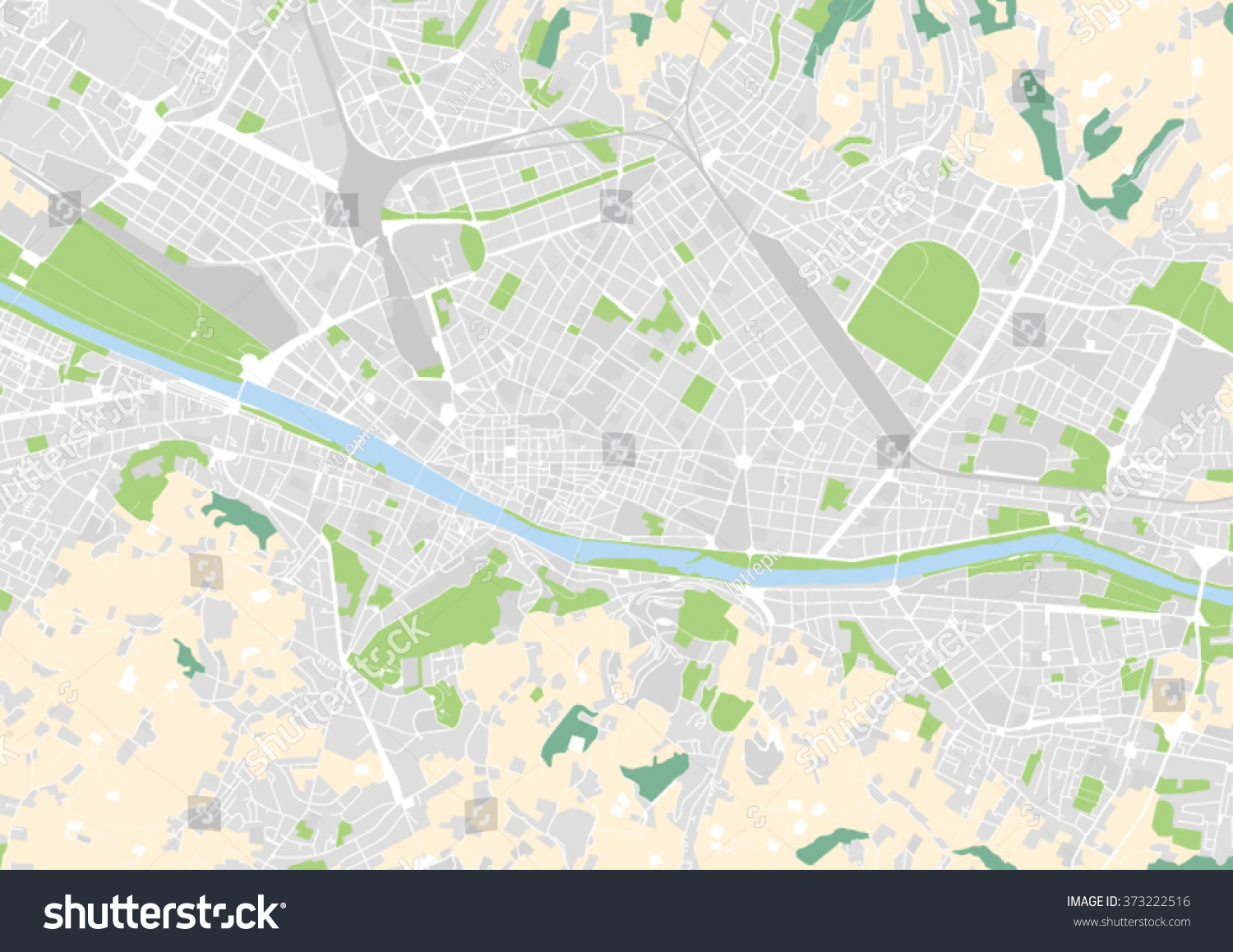 Vector city map florence italy stock vector 373222516 shutterstock vector city map of florence italy gumiabroncs Gallery