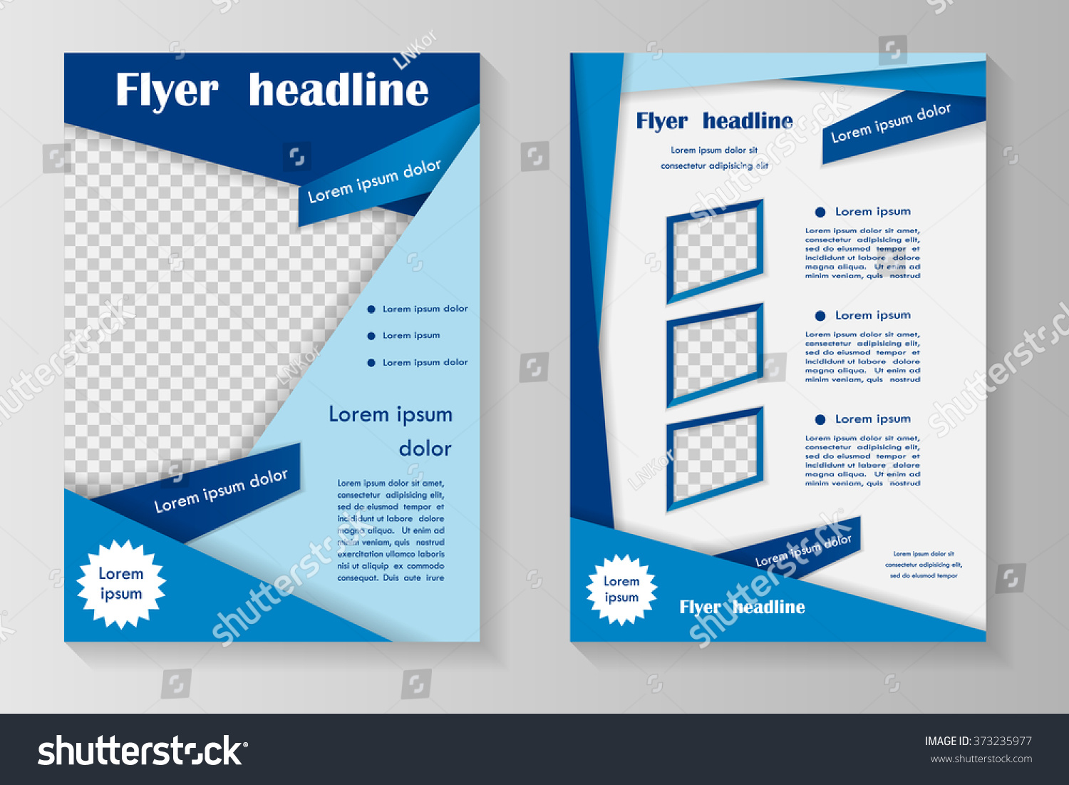 vector flyer template design front page stock vector 373235977 vector flyer template design front page and back page business brochure or cover