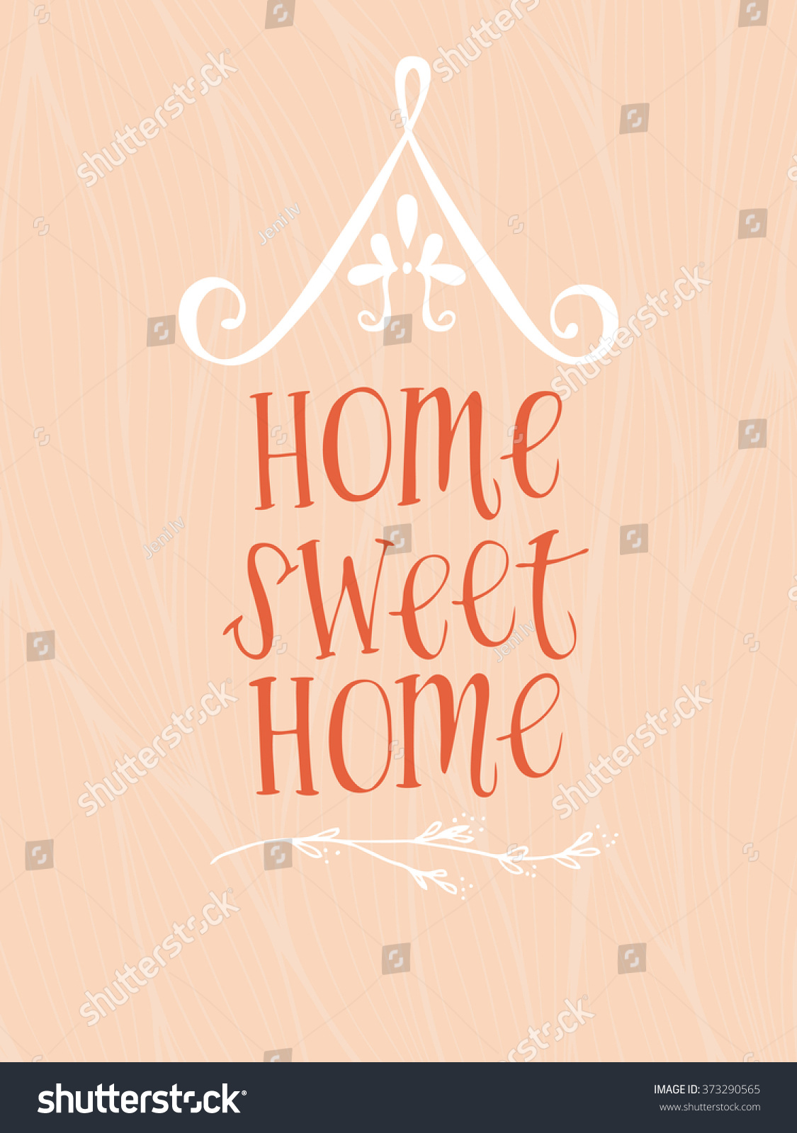 Home Sweet Home Tshirt Design Postcard Stock Vector 373290565 ...