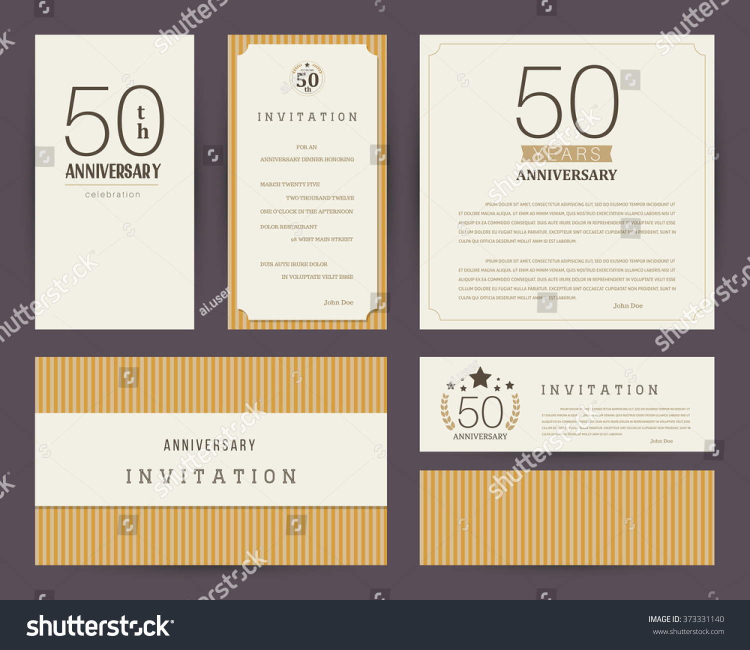 50th Anniversary Invitation Cards Template