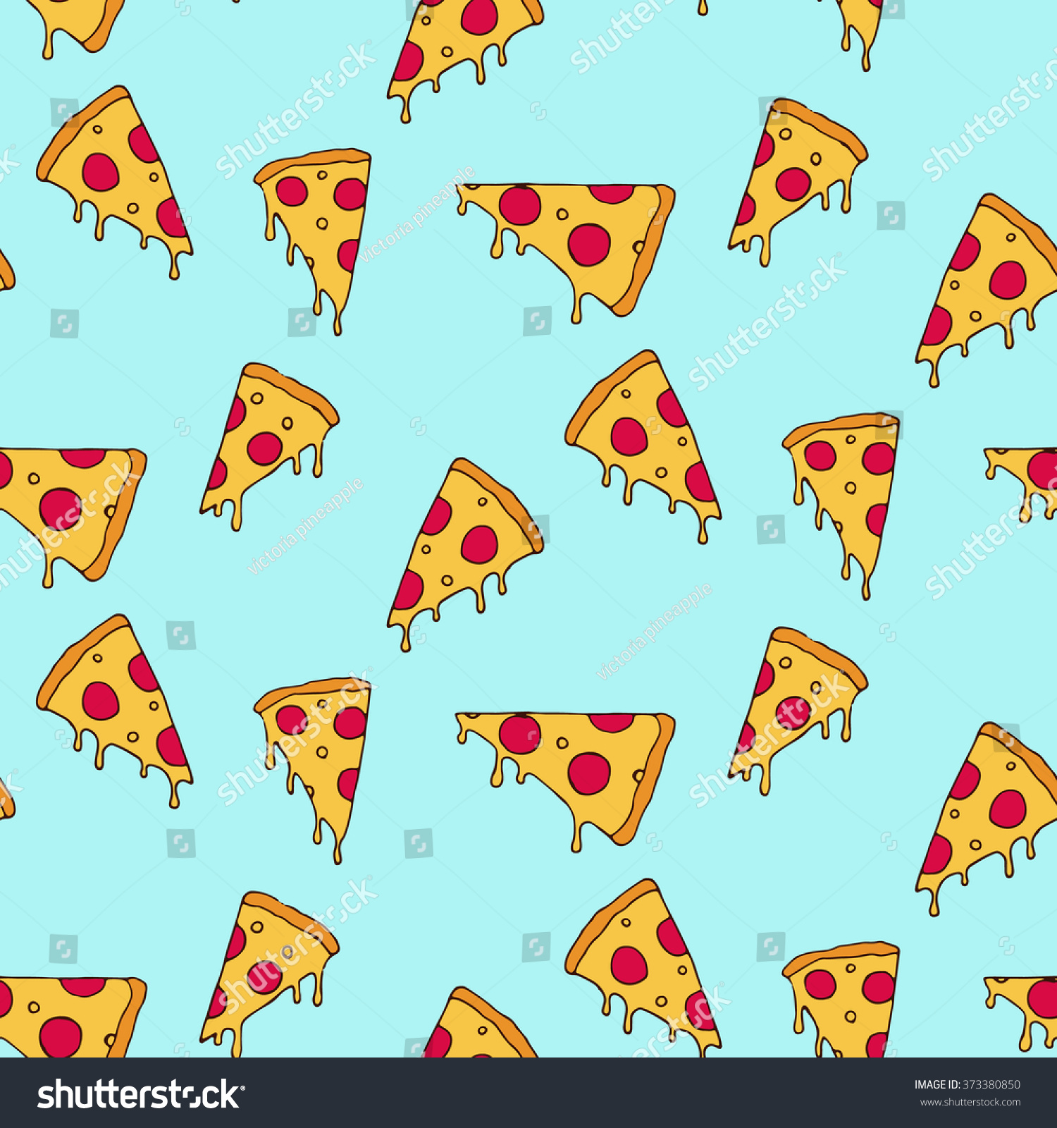 Pizza Slice Seamless Pattern Stock Vector 373380850 ...